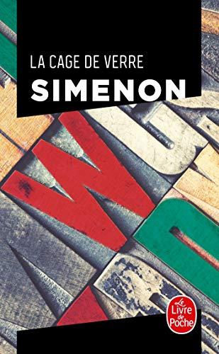 """Couverture de """"La Cage de verre"""", de Georges Simenon, au Livre de Poche"""