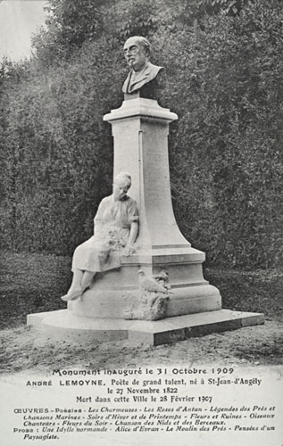 Monument à André Lemoyne (1822-1907), à Saint-Jean-d'Angély (Charente-Maritime).