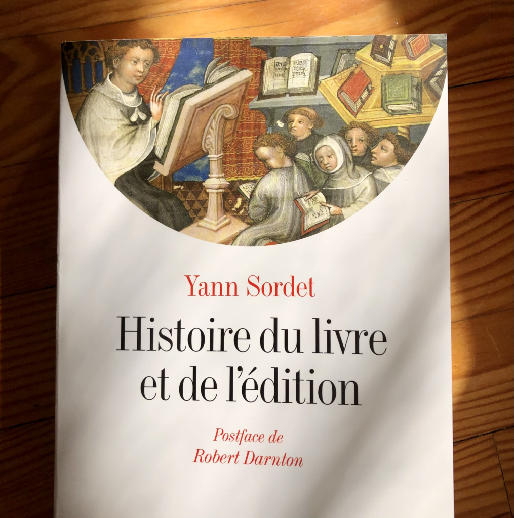 Couverture de l'Histoire du livre et de l'édition, de Yann Sordet